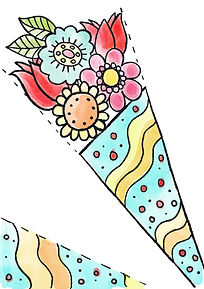 Mary Cousins. Easter. bouquet. colouring. free. download page.jpg