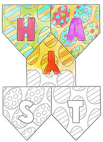 Mary Cousins illustration. Free. Download. Coloring. Easter bunting.jpg