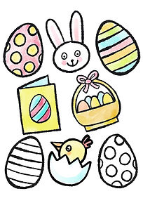 Mary Cousins. Illustration. Download. free. colouring. easter. rabbit. egg. chick..jpg