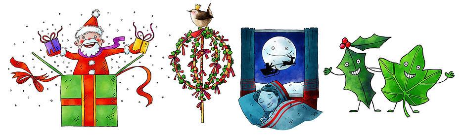 Mary Cousins Illustration. Culture Vannin. Isle of Man. Christmas. Cute character graphicsAdvent calendar.jpg