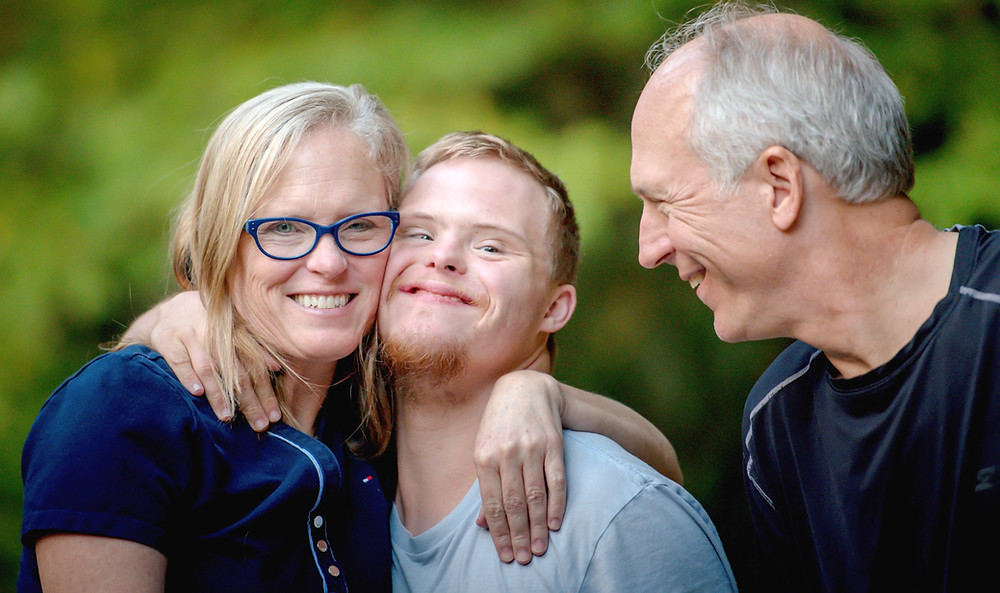Mother, Father and Son, Smiling