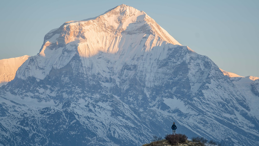 Muldai viewpoint of Dhaulagiri on the Khopra Ridge trek