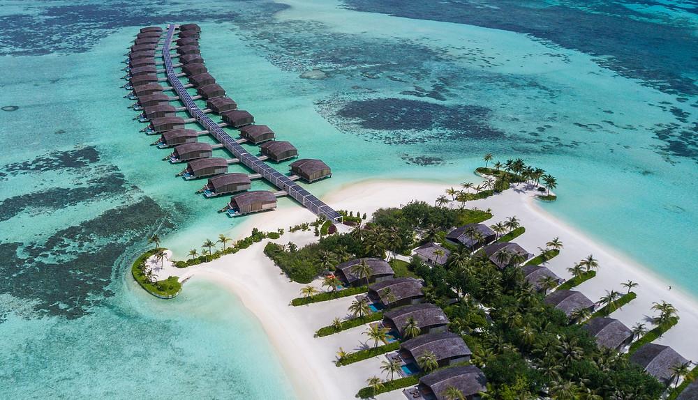 Club Med Finolhu aerial view