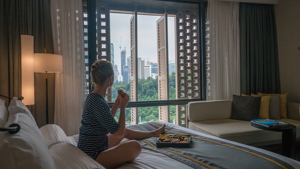 Room service at Hotel Stripes Autograph collection