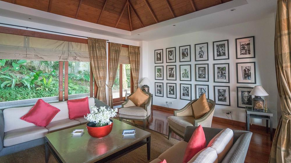 Luxury rooftop lounge at Baan Phu Prana Villa
