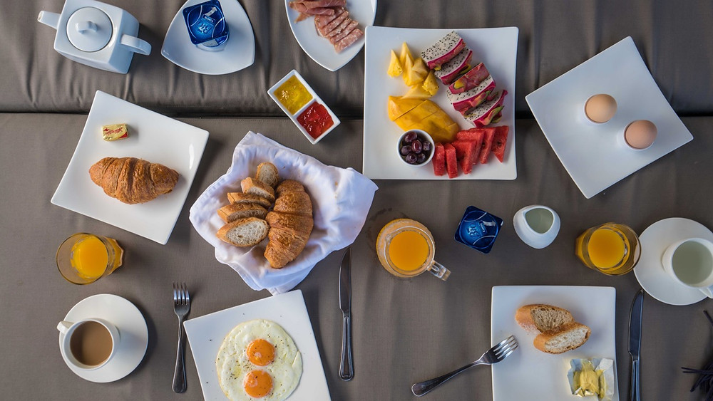Breakfast options at Baan Phu Prana Villa in Phuket