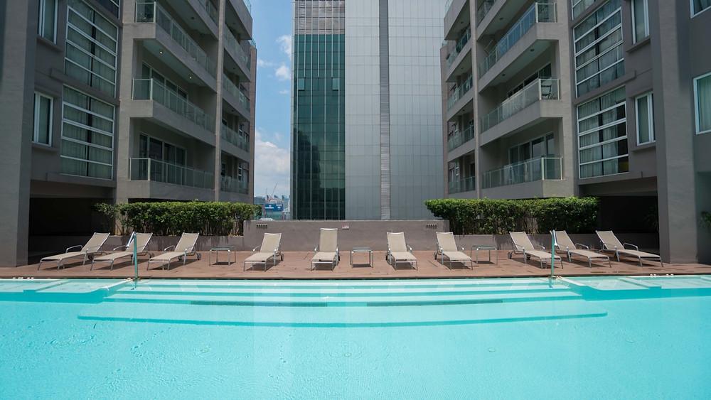 Rooftop pool at Airbnb Kuala Lumpur