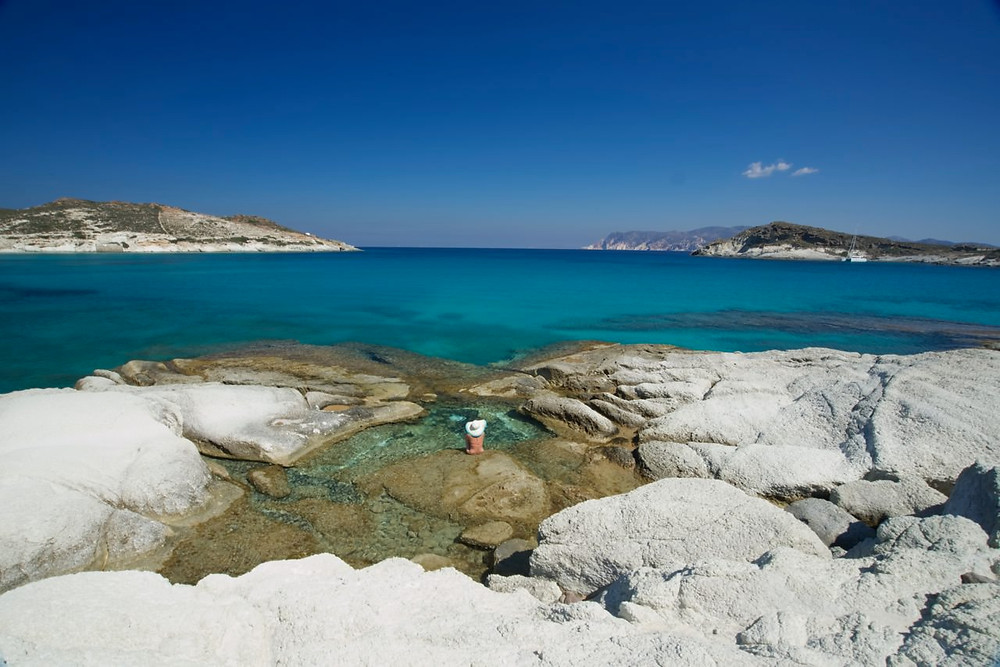 Kimonos Island Chalk Beach Greece