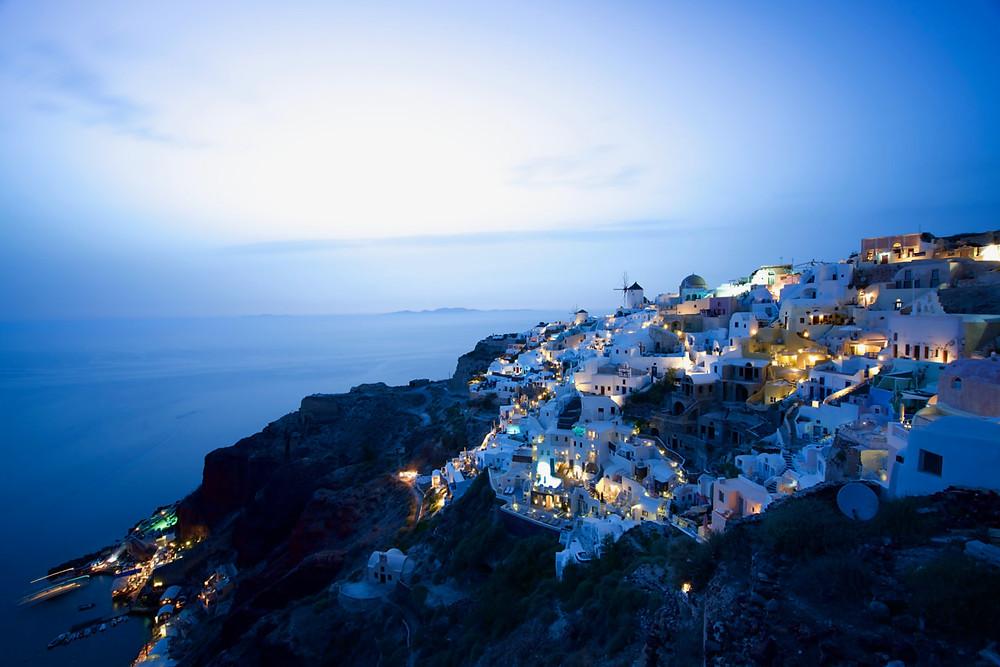 Santorini at dusk