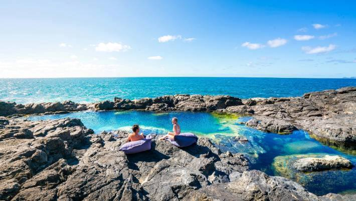New Zealand's most exclusive rock pool: Only one couple allowed