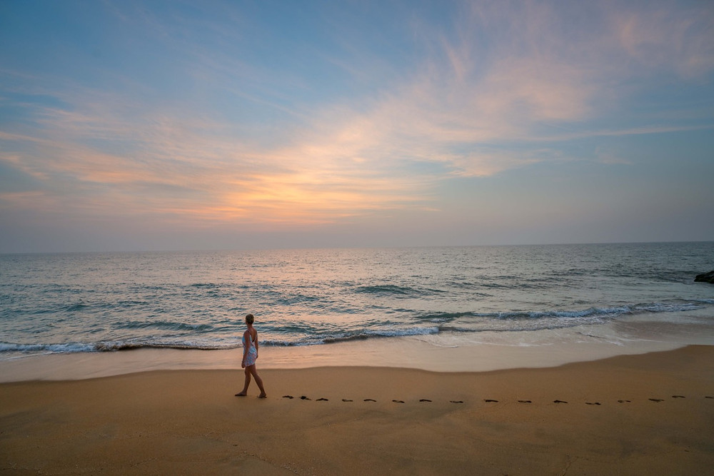 Beach walks at Elements Nature Resort Sri Lanka