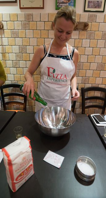Making the dough at Pizza Experience Naples Al22