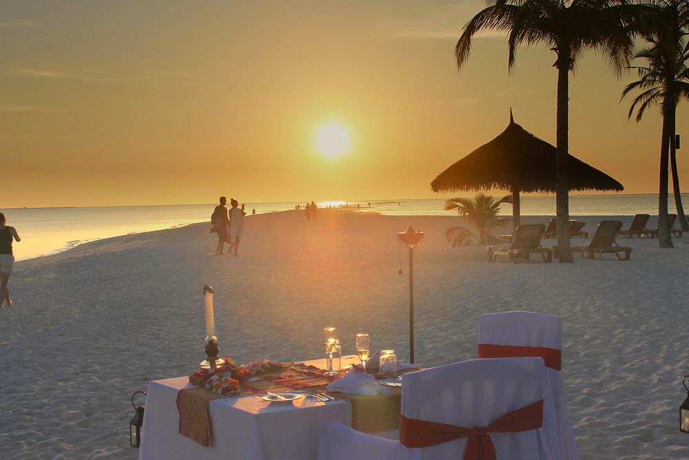 Romantic dinner Maldives