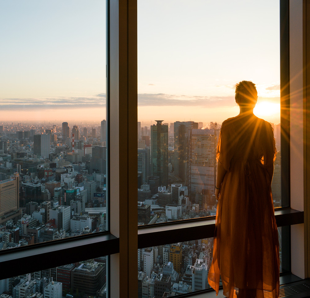 Sunrise Breakfast Views over Tokyo City at the Andaz Hotel