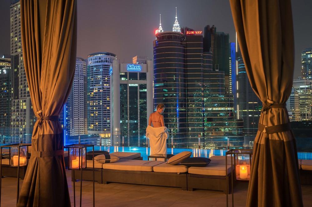 Hotel Stripes rooftop pool Kuala Lumpur
