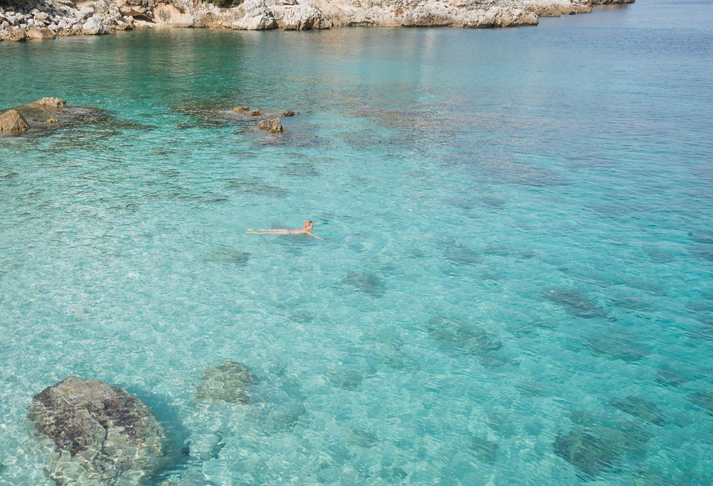 Clear waters in Sicily
