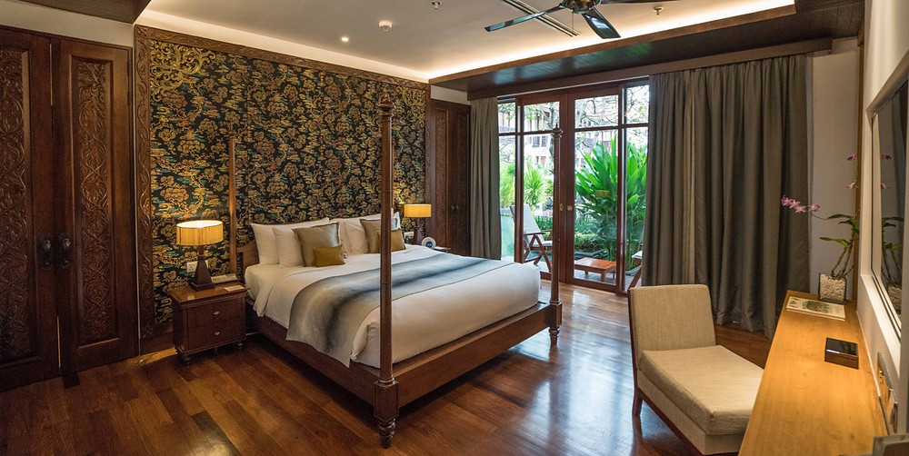Bedroom of Jim Thompson Suite at Anantara Angkor
