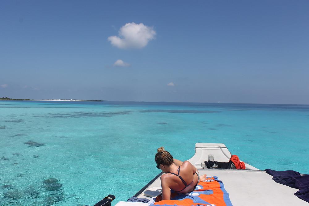 Maldives water clear blue
