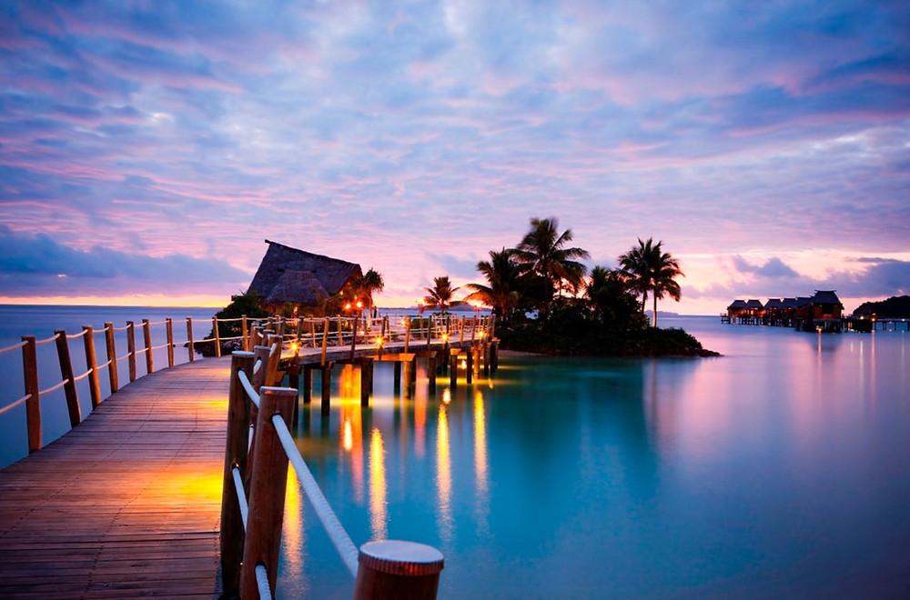 Likuliku overwater bungalow rooms Fiji