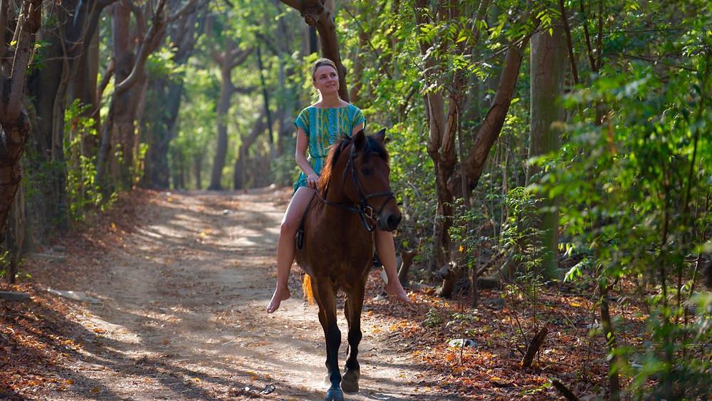 Riding horse on Gili T island