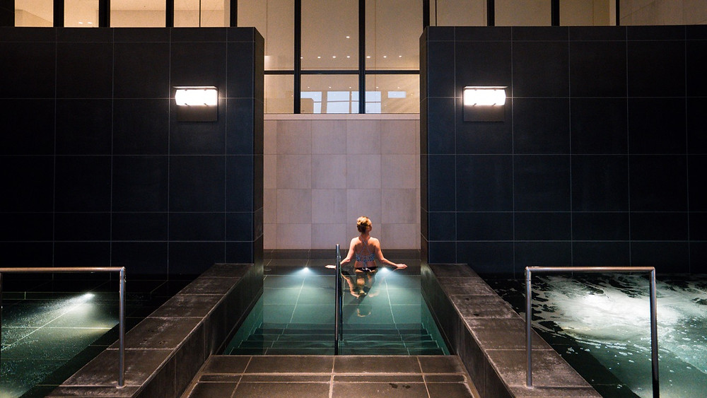 Complimentary spa area at the Andaz hotel Tokyo