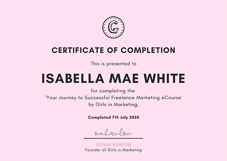 Certificate of Completion - Freelance Ma