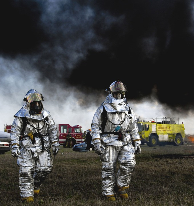 Firemen, fire, Ohio