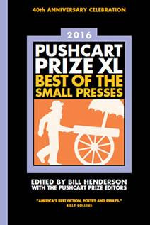 Editorial News: Pushcart Prize Announcements