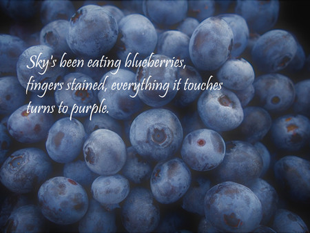 Two Visual Poems by Cindy Bousquet Harris: Blueberry Sky, and Blessing