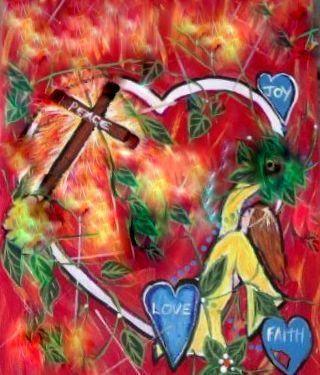 """Spiritual Acrylic on canvas-J.Pickett"