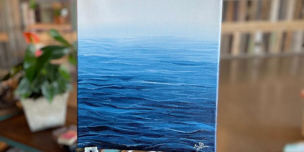Glass and Canvas Night : Foggy Sea