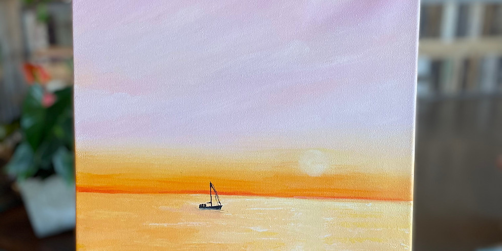 Glass and Canvas Night : Sunset Sail