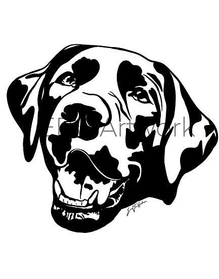 Custom Black and White Pet Portrait