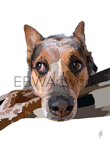Speckled Mosaic Pet Portraits
