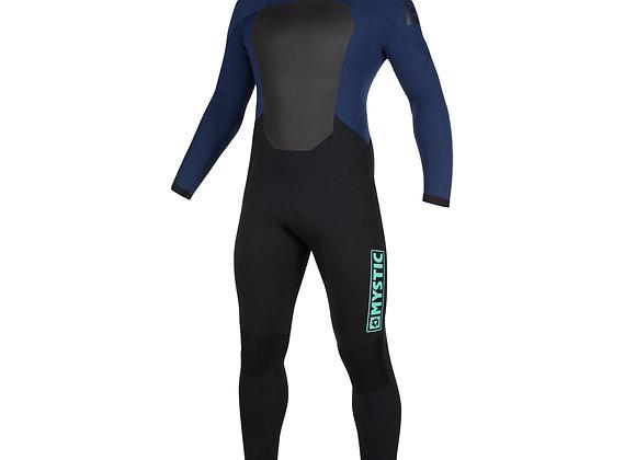 Mystic Star 5/3mm - Black Zip Wetsuit - Navy