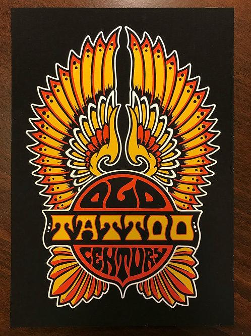 Print Old Century Tattoo Logo