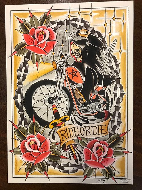 Print Reaper Ride Or Die