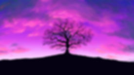 LMT Illustration tree with purple sky