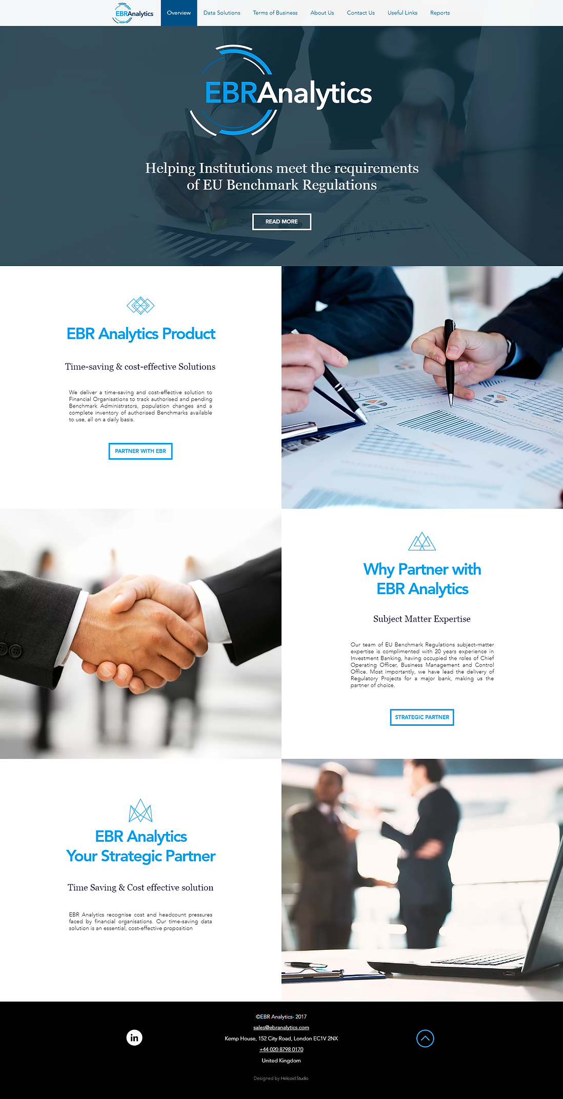 EBR Analytics Website Design