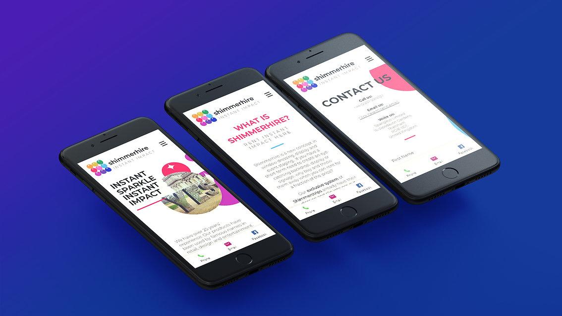 Shimmerhire Website Design