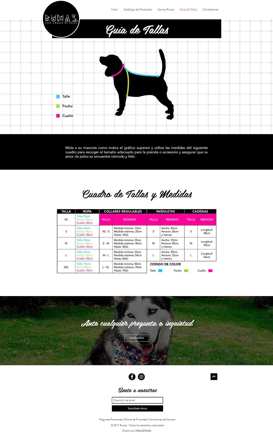 RUNAS Website Design Size Guide