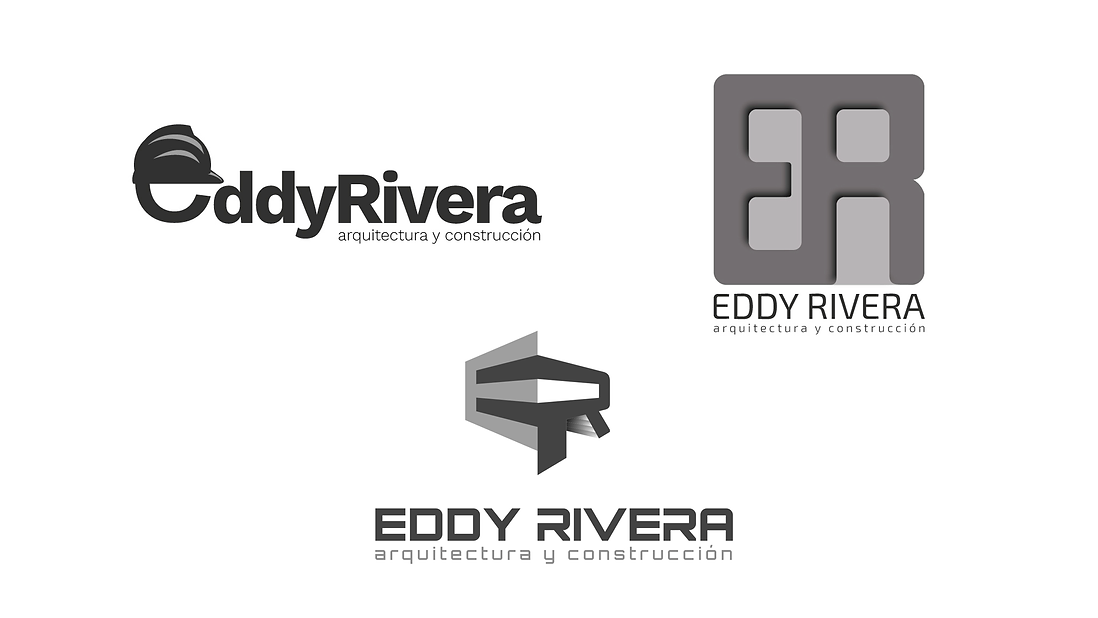 Eddy Rivera Logotype Ideas, choosing the right one