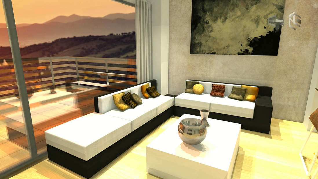 Eddy Rivera Virtual Tour Render Still with sunset