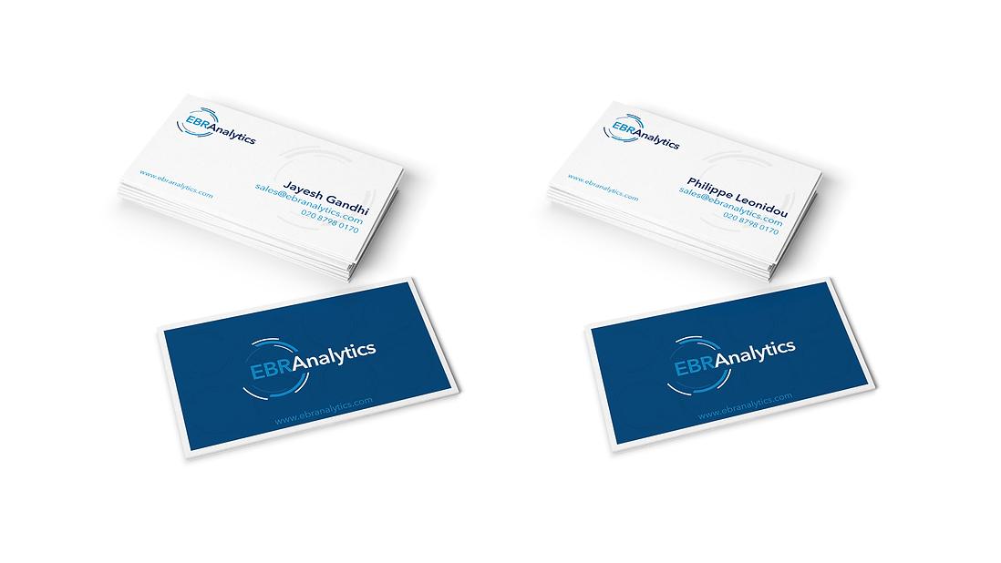 EBR Analytics Business Cards Design
