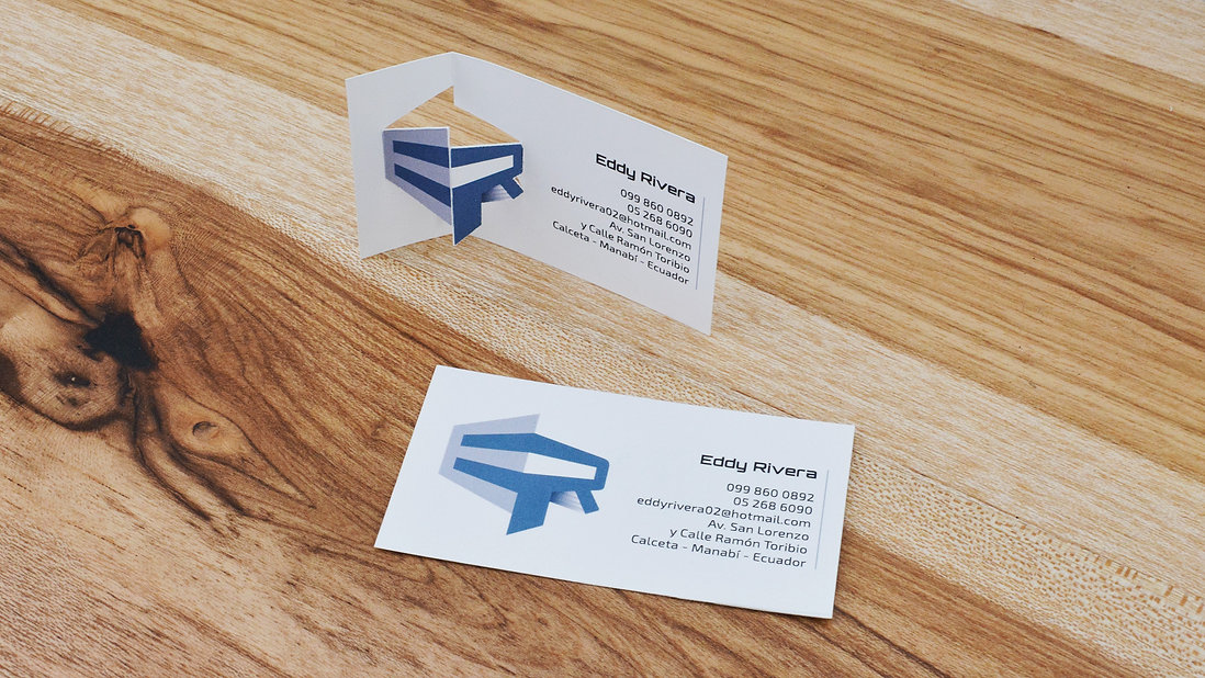 Eddy Rivera very creative business card design