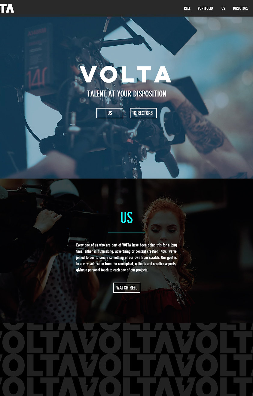 VOLTA Films Website Design and SEO