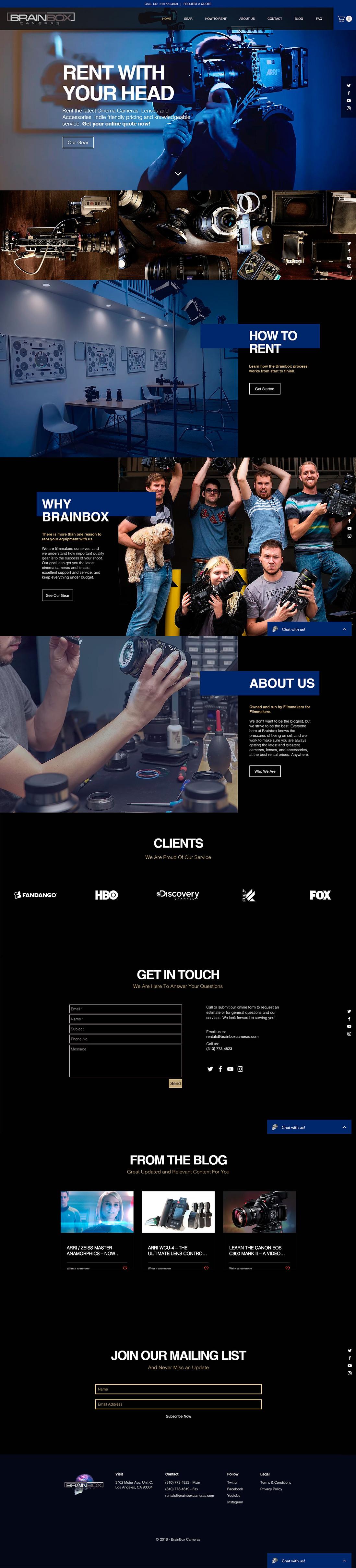 BrainBox Cameras Online Rental Store