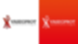Vasegprot Logotype color variations in white and red background