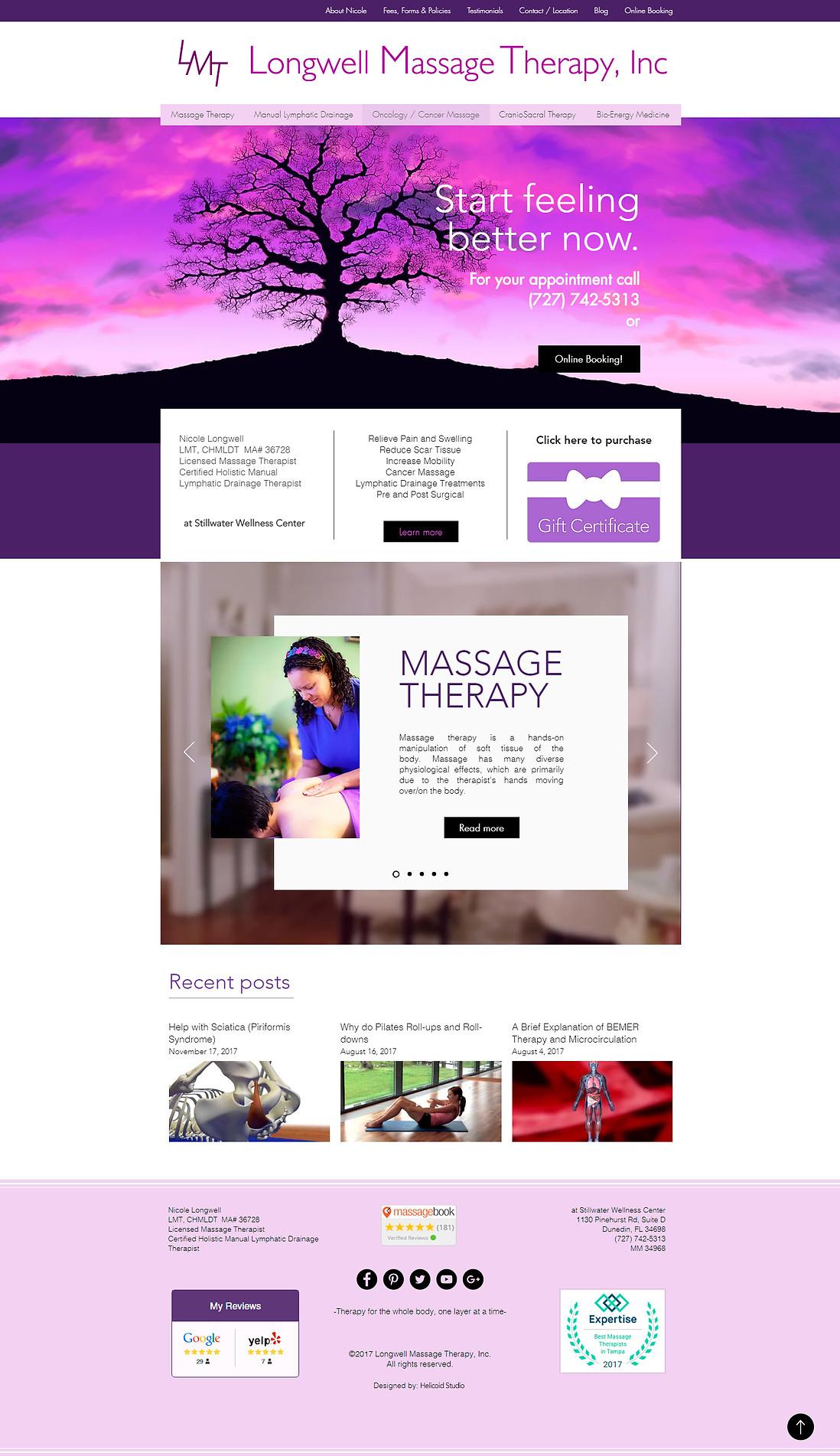 LMT Website Design Home Page