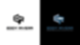 Eddy Rivera Logotype color variations black and whte and blue over black background